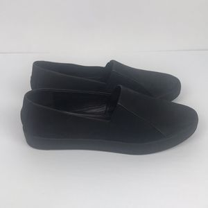 Eileen Fisher Black Leather Slip On Sneaker 6